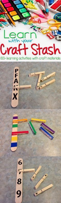 A fun roundup of learning activities from colors, numbers and letters that are great for preschoolers!