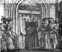 This Day in History:  Oct 31, 1517: Martin Luther posts 95 theses http://dingeengoete.blogspot.com/ http://www.the-highway.com/95Theses.gif