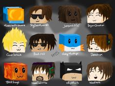 Aww so qt! Minecraft youtubers skins. All the perfects!