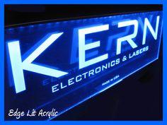 LED lit acrylic