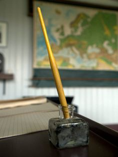 using a dip pen and inkwell at school  - this is  the first pen I used.