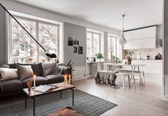 There are various secrets to make Scandinavian style. You can use these nine ideas to create a stunning Scandinavian interior design in your home. Modern Scandinavian Interior, Scandinavian Style Home, White Interior Design, Scandinavian Living, Industrial Scandinavian, Tropical Interior, Interior Concept, Scandinavian Furniture, Apartment Interior Design