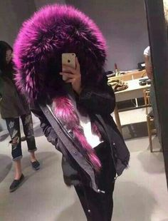 2015 women real fox fur short coat genuine natural fox fur coat Fur & Faux Fur from Women's Clothing & Accessories o… Fall Winter Outfits, Autumn Winter Fashion, Fox Fur Coat, Mode Hijab, Fashion Killa, Types Of Fashion Styles, Passion For Fashion, Mantel, Ideias Fashion