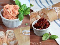 Tomaten-Feta-Aufstrich - eine tolle Kreation von Miss Blueberrymuffin's kitchen zum Mediterranen Stangenbrot!