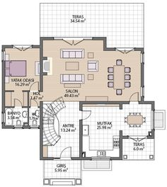 Villa Plan, Best Wordpress Themes, Residential Architecture, Autocad, Urban Design, Most Beautiful Pictures, House Plans, Floor Plans, How To Plan