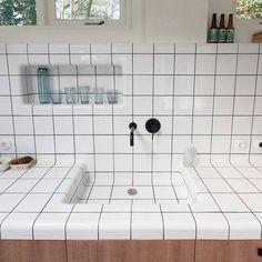 DTILE at the garden room of idealprojects Voorschoten The Netherlandshellip Bathroom Interior, Kitchen Interior, Deco Design, Tile Design, Design Art, Cuisines Design, Design Thinking, Interiores Design, Small Bathroom