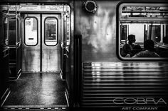 Subway silence- Thierry Vanhuysse Urban and city art, modern abstract, photographic art on plexiglass, Cobra Art Company