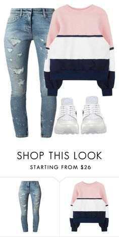 """""""Kinda being lazy today"""" by makailatiannabrooks ❤ liked on Polyvore featuring Faith Connexion and NIKE"""