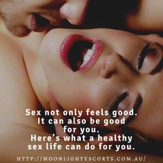 Sex not only feels good. It can also be good for you. Here's what a healthy sex life can do for you. #gorgeouswomen