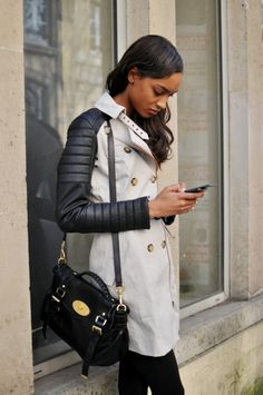 Love this coat & the Mullberry bag;-) .