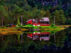 by Inna Cleanbergen on Norway, Cabin, House Styles, Photography, Home Decor, Homemade Home Decor, Cabins, Cottage, Photograph