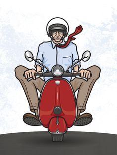 vespa scooter cartoon | Blog at WordPress.com . | The Hatch Theme .