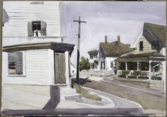 Browse All : Drawings and Watercolors by Hopper, Edward from - The AMICA Library Landscape Paintings, Watercolor Paintings, Watercolors, Winslow Homer, Andrew Wyeth, Edward Hopper, Singer Sargent, Urban Landscape, American Artists