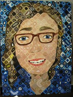 There's a Dragon in my Art Room: Chuck Close Portraits