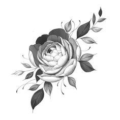 32 Beautiful Flower Drawing Information ideas 2020 Dot Tattoos, Black Tattoos, Faith Tattoos, Music Tattoos, Tattoo Studio, Flor Tattoo, Tiny Tattoo, Cherry Blossom Vector, Girl Thigh Tattoos