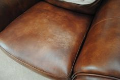 Tip on how to remove scratches from a leather sofa. My bf's mom could use this one. Her leather sofa is also the favorite place of her two cats...
