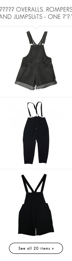 """""""⠀⠀⠀⠀⎰ OVERALLS, ROMPERS AND JUMPSUiTS - ONE ♡°˖:*"""" by cafegrl ❤ liked on Polyvore featuring jumpsuits, rompers, shorts, overalls, bottoms, bib overalls, denim rompers, denim romper, denim bib overalls and dungaree overalls"""
