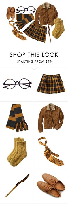 """""""Hufflepuff season"""" by sleeping-under-sailboats ❤ liked on Polyvore featuring Forever 21, Gap, Toast and Ollio"""