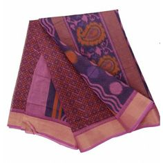 Sari: Pure cotton saree with unstitched attached blouse piece. Ethnic Dress, Love Clothing, Pink Saree, Cotton Saree, Comfortable Outfits, Women Wear, Sari, Comfy, Indian
