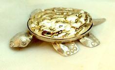 Sterling Silver Hand Made Turtle Pin Pendant   Bitz of Glitz