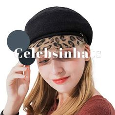 Leopard Print Baker boy style Fashion Hat for Women  Celebsinhats  Christmas   Presents Baker b93e0ed21478