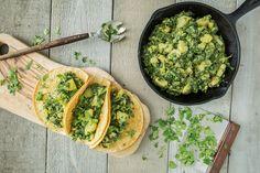 Spinach-Potato Tacos