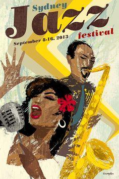 Jazz Poster on Behance by Michael Crampton