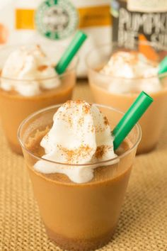 Pumpkin Spice Latte Jell-O Shots: Put a boozy spin on everyone's favorite fall drink. Click through to find more fun Halloween recipes for Jell-O shots.