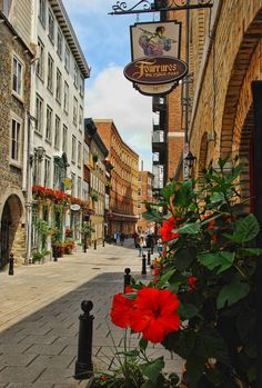 The Lower Part of the Beautiful Old Quebec, Canada