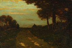 """Sunset Landscape,"" Charles Warren Eaton, 1899, oil on canvas, 20 1/4 x 30 1/4"", Montgomery Museum of Fine Arts."