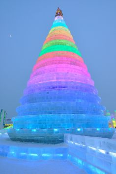 Harbin Ice and Snow Festival Christmas Tree