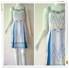 bxhhn Simple Dresses, Summer Dresses, Traditional Outfits, Ikat, Fashion Dresses, Model, Blue, Clothes, Style