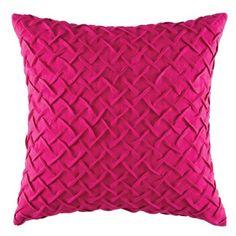 Kas Designs Zasha Pillow featuring polyvore, home, home decor, throw pillows, pink, kas australia, pink toss pillows, textured throw pillows, plush throw pillows and pink throw pillows
