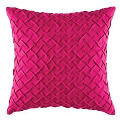 Kas Designs Zasha Pillow (£48) ❤ liked on Polyvore featuring home, home decor, throw pillows, pink, plush throw pillows, pink toss pillows, pink throw pillows, kas australia and pink accent pillows