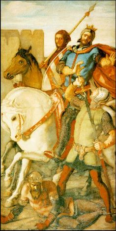 King Arthur Unhorsed and Spared by Sir Launcelot by William Dyce