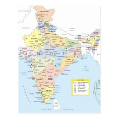 India Political Map Shows All The States And Union Territories Of