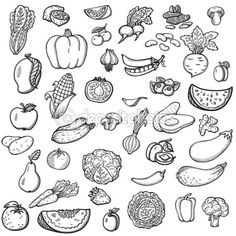 depositphotos_46881501-Set-of-vegetables-and-fruits.-For-menu.-Hand-drawing-retro.-Healthy-food.-Vintage-style..jpg (450×450)