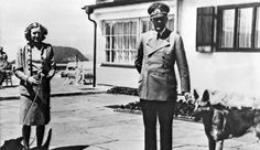"""Undated photo of Adolf Hitler and Eva Braun posing on the terrace of the Berghof. Documentary reveals secrets of Hitler's $5 billion missing fortune. A new British documentary exposes the secrets of Adolf Hitler's missing fortune, which is estimated to be worth more than $5 billion. """"The Hunt For Hitler's Millions"""" reveals that the Nazi dictator squirrelled away a considerable fortune, amassed from image rights, personal appearances and his refusal to pay income tax. #Hitler #Nazi #WWII"""