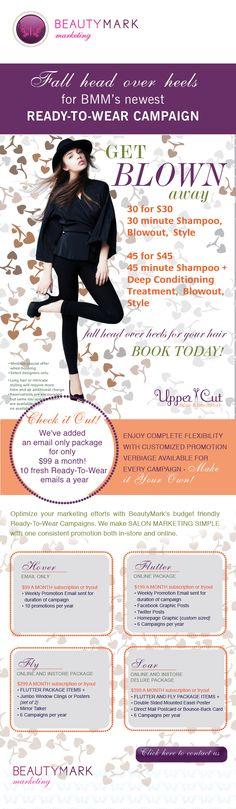 salon promotions, salon marketing, ready-to-wear salon promotions