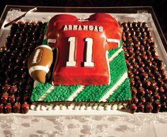 Former Razorback Casey Dick's cake: http://www.inarkansas.com/689/razorback-nuptials-the-wedding-of-felicia-davis-casey-dick