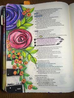 Isaiah 55:8-9. Sherrie Bronniman - Art Journaling: In My Bible. Borrowed design - thank you, Valerie Weiners.