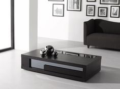 Rectangular Coffee Table In Modern Living Room Stained