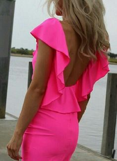 Perfect Hot Pink Dress for a night out : )