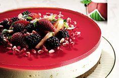 Cheesecake de limão com frutas vermelhas: sabor irresistível