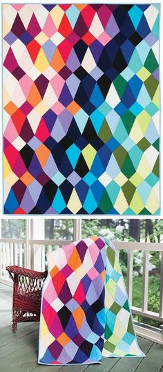 Fishnet Quilt, 46 x design by Pamela Goecke Dinndorf Quilt Kits, Quilt Blocks, Quilting Projects, Quilting Designs, Quilt Modernen, Rainbow Quilt, Keepsake Quilting, Contemporary Quilts, Scrappy Quilts