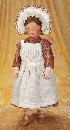 The Empress and the Child - Antique Dolls: 46 Art Character Doll with Solemn Expression by Marion Kaulitz
