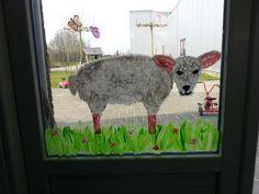 Raamschildering voorjaar!