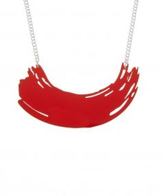 Brushstroke Necklace - Red  // Contemporary 2015 // £35