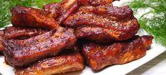 Pečená marinovaná vepřová žebra v kanadském stylu - VařímeDobroty.cz French Toast, Bacon, Pork, Meat, Breakfast, Kale Stir Fry, Morning Coffee, Pork Chops, Pork Belly