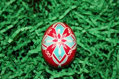 Cross and Butterfly  Ukrainian Egg by StiglianoDesigns on Etsy, $18.00